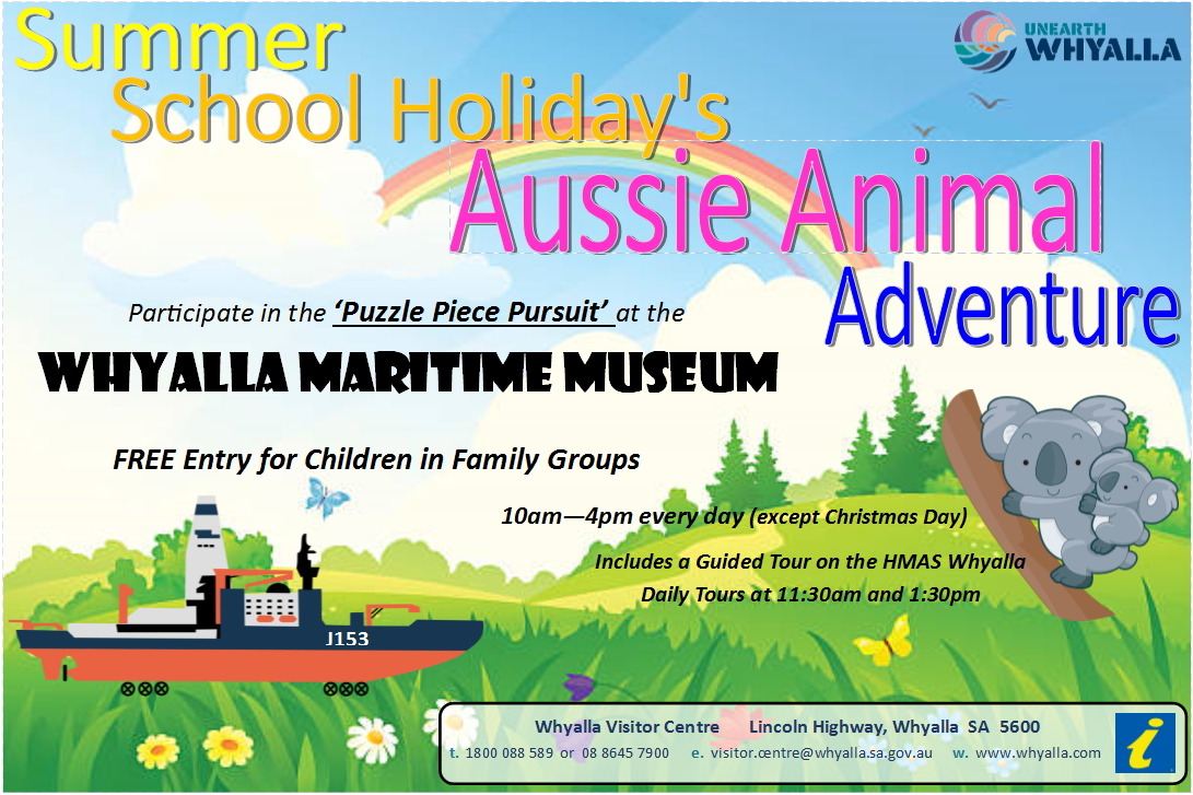 Whyalla Maritime Museum Summer School Holiday Program